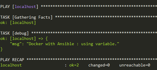 Docker with Ansible Part II : using variables